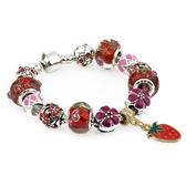 飾品 鑲鉆珠水晶吊墜手鏈 串珠手環s38