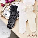 襪子 花朵蕾絲刺繡荷葉滾邊短襪-Ruby...