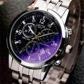 手錶-鋼鍊手錶石英防潑水商務男錶腕錶學生皮帶手錶男流行男錶【元氣少女】
