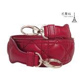 【巴黎站二手名牌專賣店】*現貨*Christian Dior 真品*S8518ONMJ 籐格紋頂級紅色小羊皮肩背帶