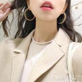 ins簡約風兩色亞克力大圓圈圓環耳環耳釘女氣質韓國個性耳圈R770『韓女王』