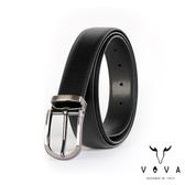 【VOVA】紳士圓頭穿針式樹羔紋皮帶(鎗色) VA003-006-GU