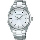 【僾瑪精品】SEIKO精工 Spirit 簡約太陽能電波腕錶-40mm/銀x白/7B24-0BR0S(SBTM251J)