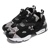 【海外限定】Reebok 休閒鞋 Instapump Fury OG 黑 白 男女鞋 蛇紋 復古慢跑鞋 【ACS】 GY2759