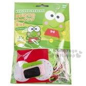 〔小禮堂〕大眼蛙 DIY不織布玩偶娃娃鑰匙圈《綠紅》手作掛飾.吊飾.鎖圈 4971413-01623