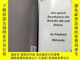 二手書博民逛書店德語罕見Also sprach Zarathustra:Ein Buch fur Alle Keinen 一本適合