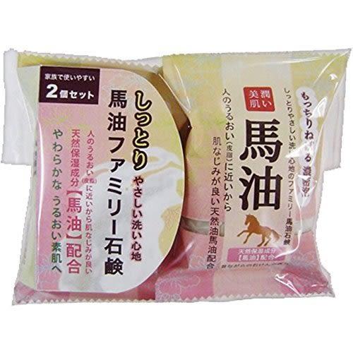 日本 Pelican 馬油/蜂蜜/黑糖/抹茶/柿子 香皂 洗顏皂 沐浴香皂 80g*2【7701】
