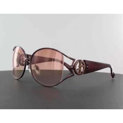 Giorgio Armani裸空LOGO太陽眼鏡-棕色