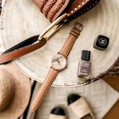 情人送禮 RELAX TIME Retro lady 復古甜美小秒針套錶-玫塊金框x咖啡/38mm RT-70-2