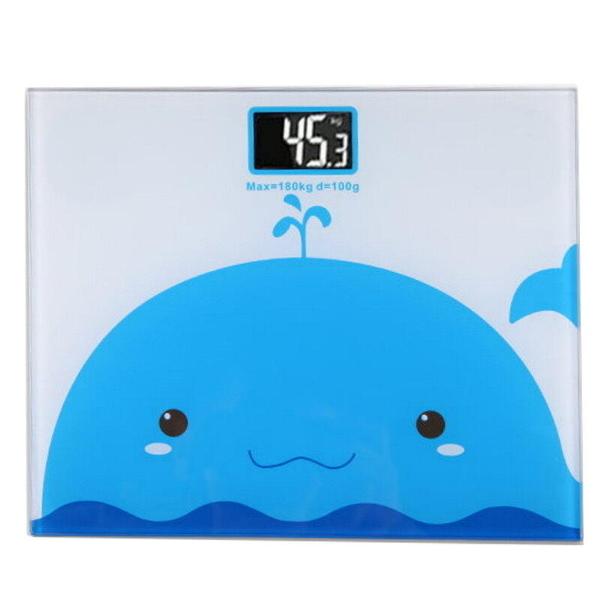 【GG195】鋼化玻璃卡通電子體重計 背光螢幕人體秤 體重機 減肥健身 EZGO商城