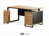 【MK億騰傢俱】ES610-02亞力斯4.5尺主管辦公桌(不含側櫃)