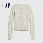 Gap女童 簡約風格純色針織外套 593185-象牙白