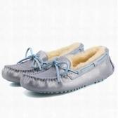 豆豆鞋 平底羊毛絨-船型休閒加厚保暖真皮女休閒鞋3色72o20【巴黎精品】