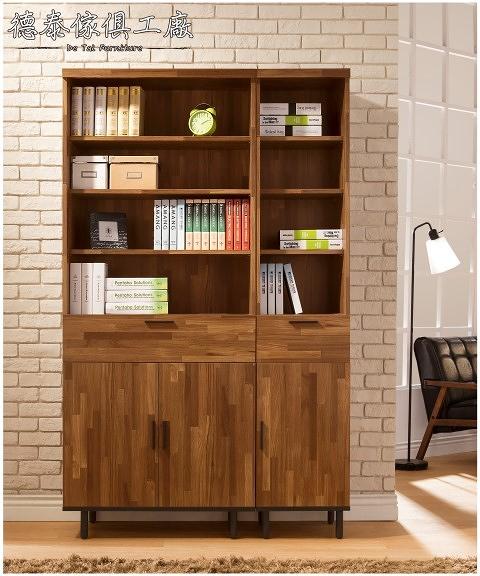 【德泰傢俱工廠】歐克斯工業生活4尺120CM書櫃 B001-778