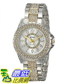 [美國直購] 女錶 XOXO Women s XO5748 Rhinestone-Accented Two-Tone Watch