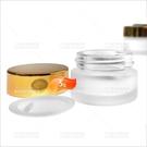 霧面玻璃面霜分裝空罐(金蓋/銀蓋-不挑色)-5g(收納瓶罐)[51031]