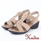 ★2018春夏新品★kadia.舒適牛皮涼鞋(8103-30棕)