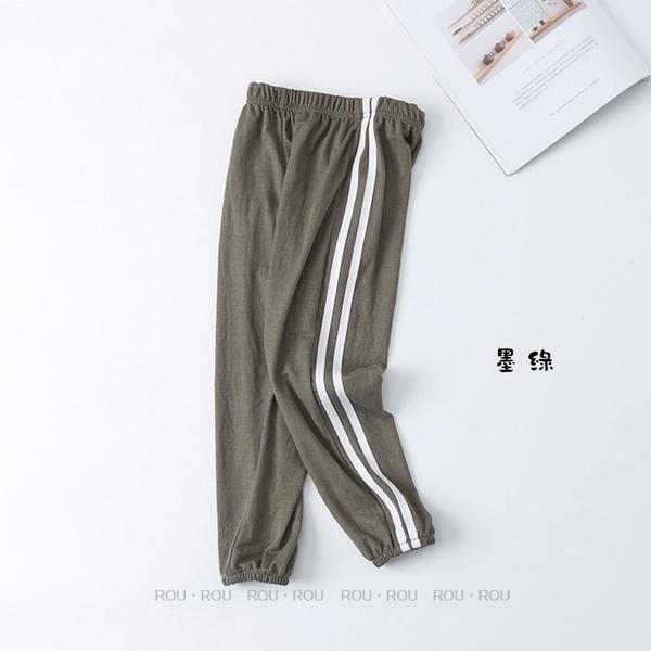 【大童】男女童棉防蚊褲。ROUROU童裝。夏男女童大中小童棉薄款運動褲防蚊褲 0322-424