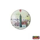 【收藏天地】台灣紀念品*水晶玻璃球冰箱貼-Taipei,My City