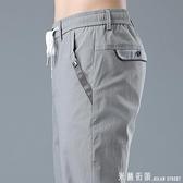 西裝褲 格紋商務休閒西褲寬鬆直筒上班工作灰色高腰西裝褲子男士