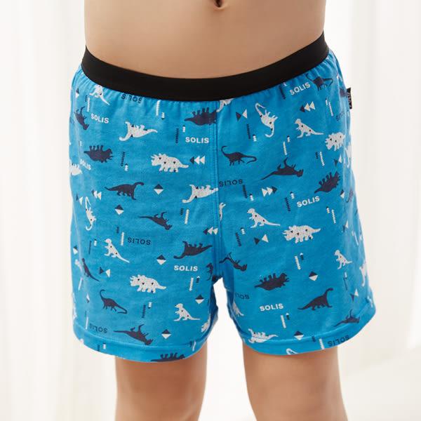 SOLIS-侏儸紀系列120-150印花男童四角褲(鑽石藍)