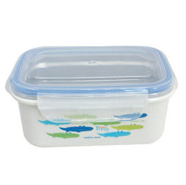 【出清價】美國Innobaby 不鏽鋼雙層保鮮餐盒(450ml)藍色鱷魚【佳兒園婦幼館】