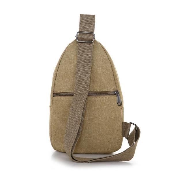 新款胸包帆布背包戶外運動斜挎騎行包防水旅游男女包韓版胸前小包『艾麗花園』