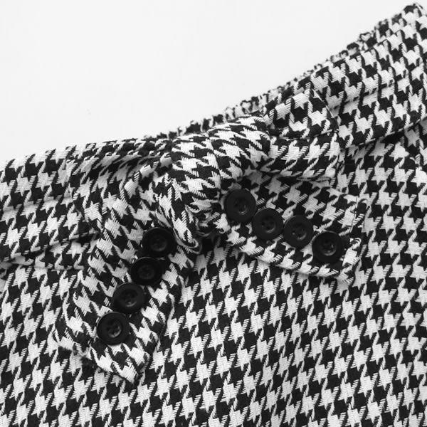 ★現貨★MIUSTAR 復古千鳥格假袖子綁帶傘裙(共1色)【NF4271GW】