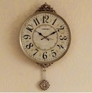 【衫衫來時】客廳靜音掛錶大氣時尚時鐘復古簡約擺鐘8289NY