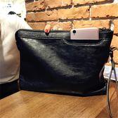 一件85折免運--手拿包女手包軟皮手包大容量手拿包時尚潮手抓包休閒信封包百搭夾包錢包