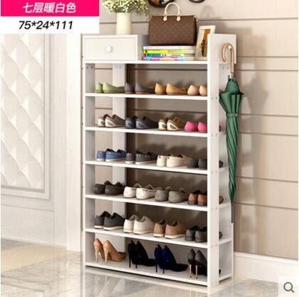 多層鞋架簡易家用收納櫃鞋櫃經濟型收納架子多功能防塵放鞋架玄關(主圖款19)