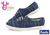 Keds 女鞋 帆布鞋 深藍 條紋 Taylor Swift代言 休閒鞋H9853#藍色◆OSOME奧森童鞋/小朋友