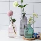 花瓶擺件玻璃透明客廳插花干花北歐水養桌面裝飾【古怪舍】
