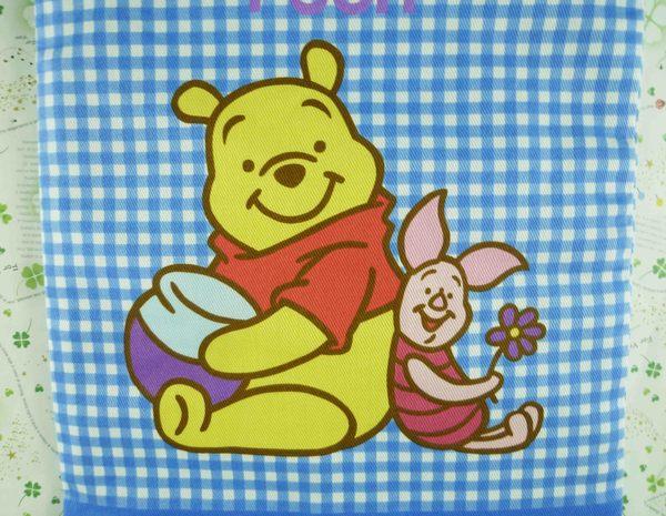 【震撼精品百貨】Winnie the Pooh 小熊維尼~手提束口袋-藍格