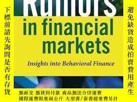 二手書博民逛書店Rumors罕見In Financial MarketsY256260 Mark Schindler Wile