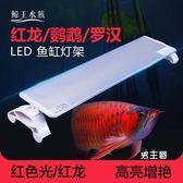 燈座燈管led魚缸燈架紅龍魚鸚鵡魚羅漢魚支架燈水族箱專用照明燈夾引色燈(1件免運)
