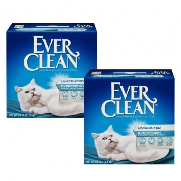 藍鑽結塊貓砂25磅X2盒