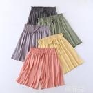睡褲 短褲睡褲女夏季莫代爾家居褲子運動居家可外穿中褲睡覺寬鬆薄款 韓菲兒