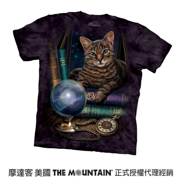 【摩達客】(預購)(大尺碼4XL、5XL)美國進口The Mountain 算命貓 純棉環保短袖T恤(10416045092a)