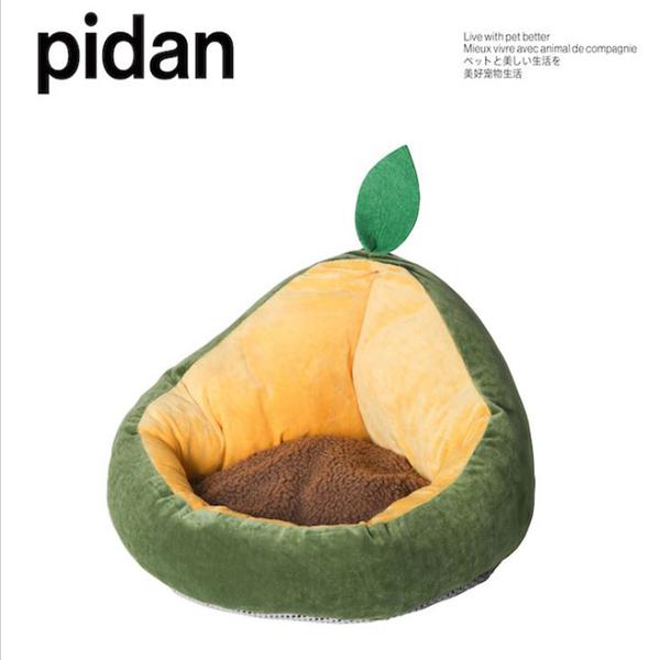 [寵樂子]《pidan》牛油果造型珍珠絨貓窩 / 寵物床