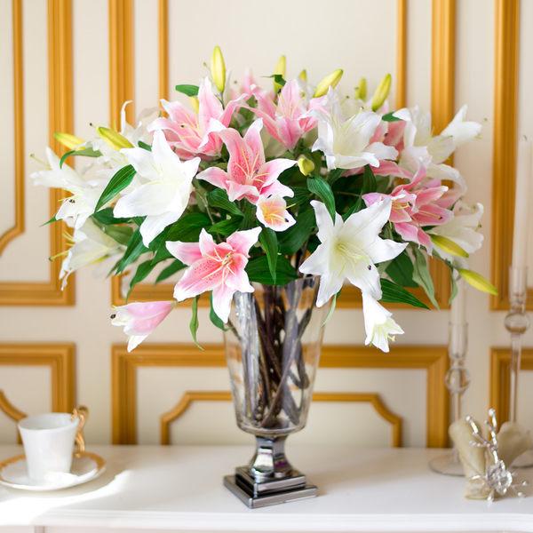 模擬花假花 套裝 花藝 客廳餐桌 裝飾花 花瓶花束 -bri0206100158