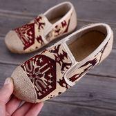 春夏季新款老北京布鞋復古民族風一腳蹬童鞋舒適透氣男女童繡花鞋