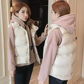 馬甲女秋冬2020年新款羽絨棉服衛衣套裝外穿冬季背心短款馬夾外套 korea時尚記