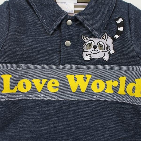 【愛的世界】丹寧感鋪棉上衣/6~8歲-台灣製- ★秋冬上著