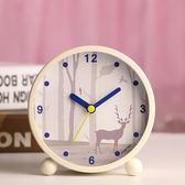 日韓藝術可愛金屬鬧鐘創意靜音夜燈時尚數字學生床頭鬧鐘臥室裝飾   9號潮人館
