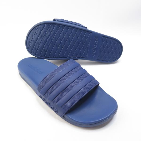 ADIDAS ADILETTE COMFOR 拖鞋 記憶鞋墊 FW5336 藍 男款【iSport愛運動】