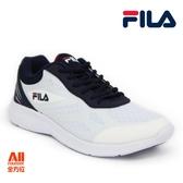 【FILA】男款休閒運動/慢跑鞋 -深藍白(1J902S131)【全方位運動戶外館】