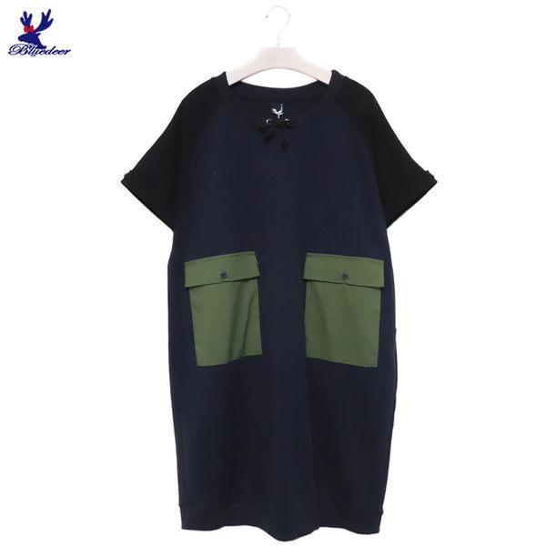 【單一特價】American Bluedeer-雙口袋休閒洋裝 春夏新款