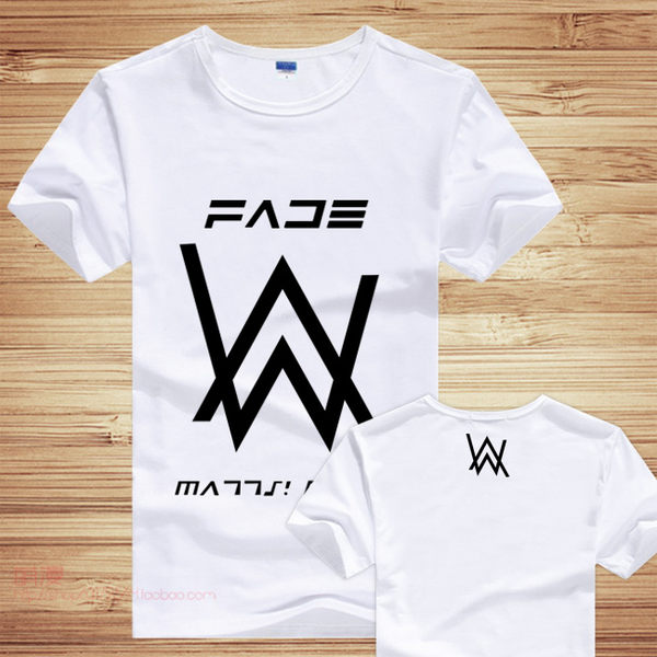 Alan Walker 同款T恤 艾倫沃克 DJ電音 短T情侶裝( 3色)大尺碼 潮男街