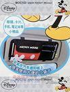 (WD-286)日本 NAPOLEX Disney 米奇 帆布皮質 汽車遮陽板置物袋收納袋【DouMyGo汽車百貨】